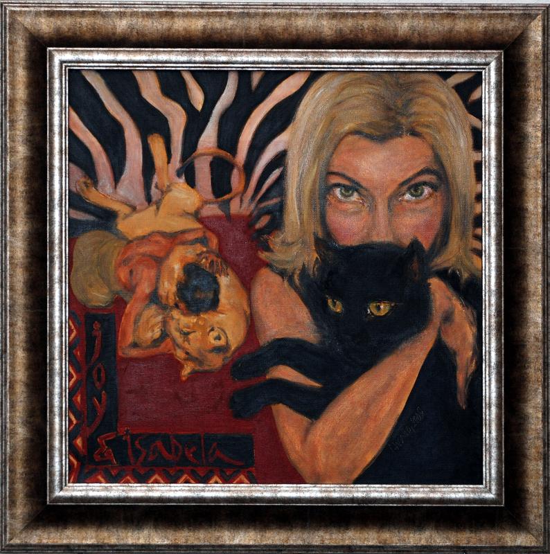 Joy Adamson / Luna - Luna / olej na plátně / 2009 / 50 x 50 cm