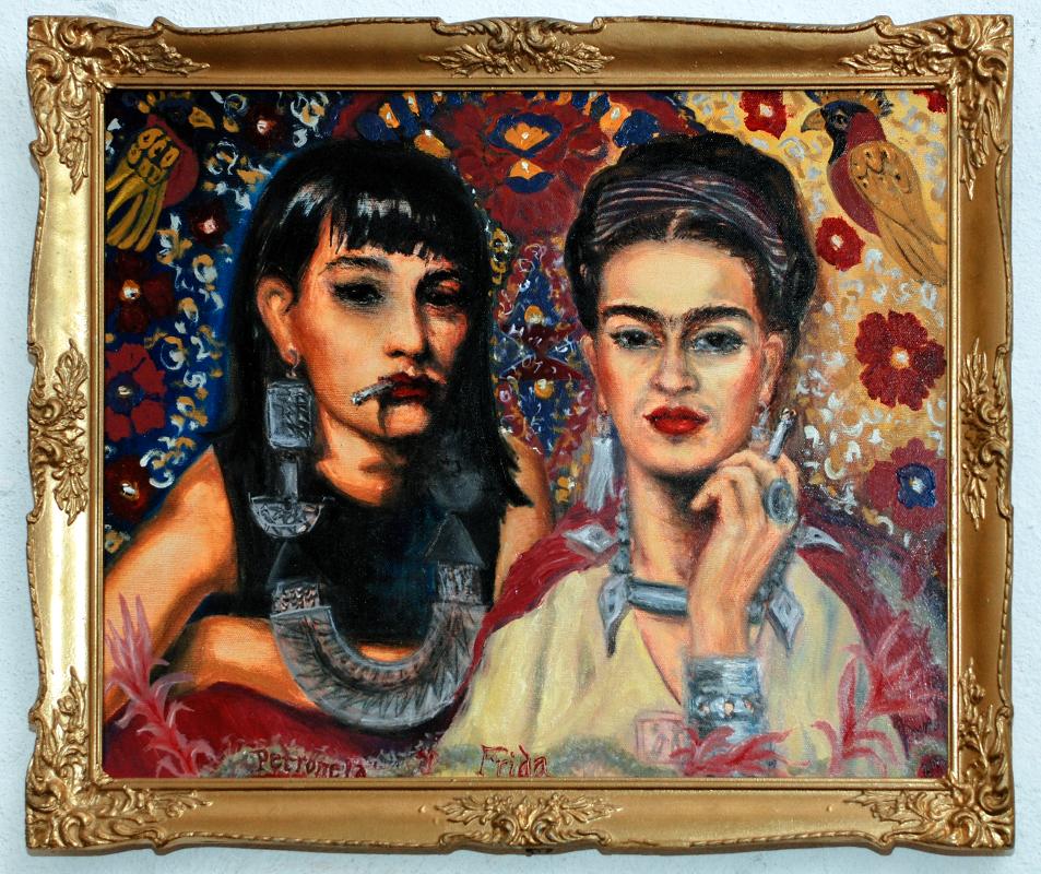 Frida Kahlo / Luna - Luna / olej na plátně / 2009 / 65 x 50 cm