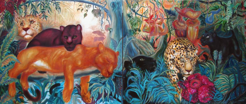 Prales / olej na plátně / 2019 / 150 x 100 cm