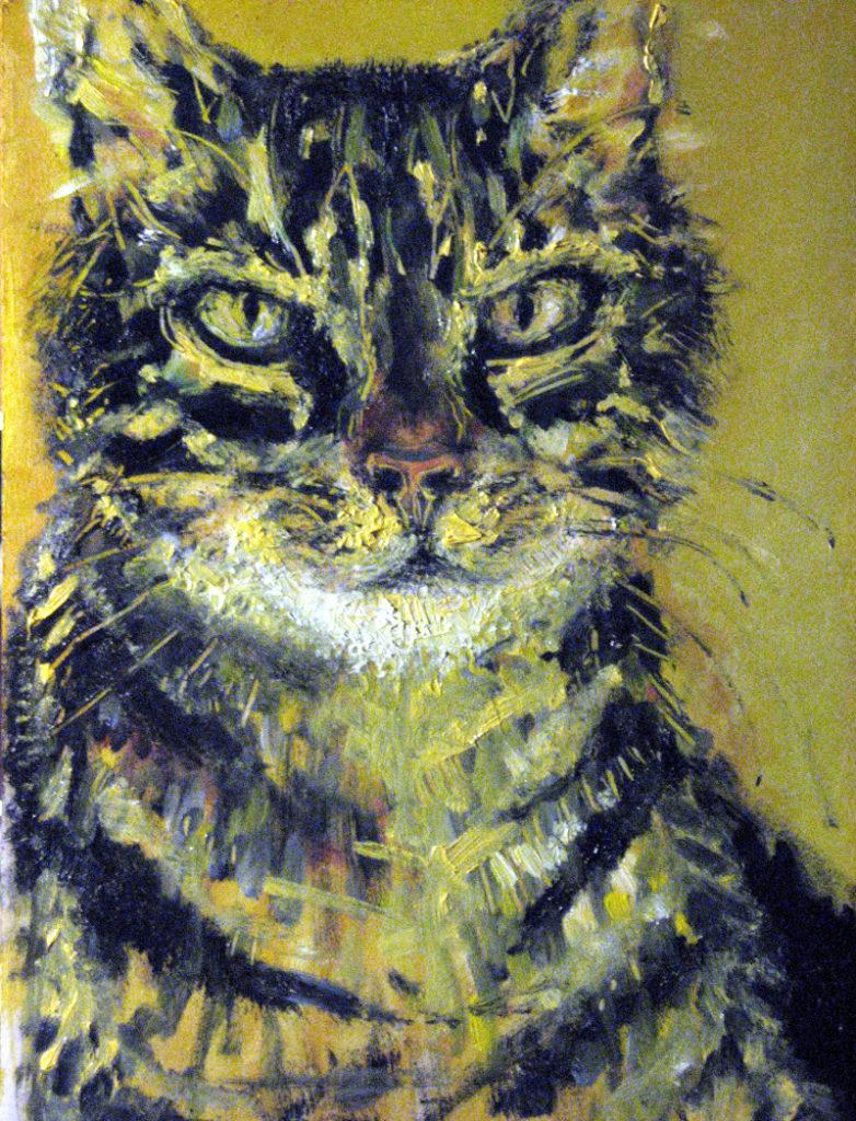 Karel - portrét mého kocoura / olej na sololitu / 2006 / 32 x 23 cm