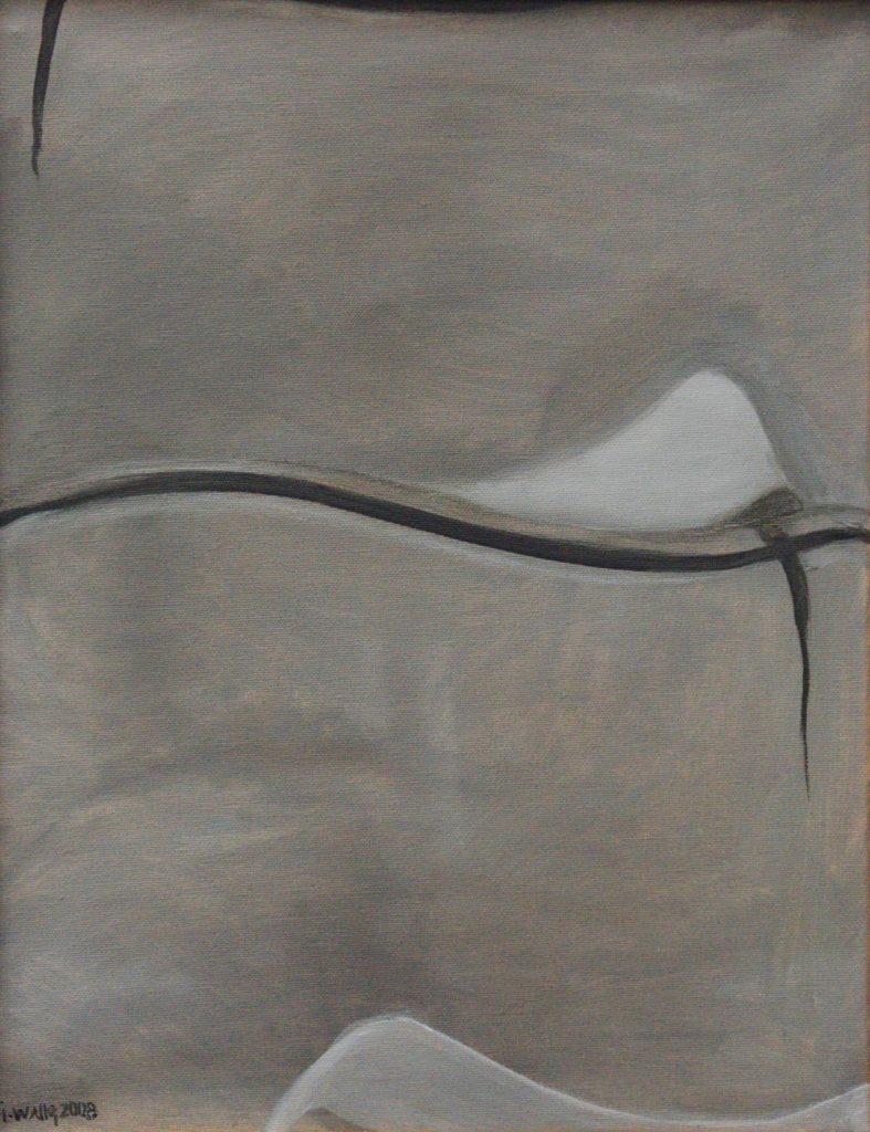 Srst č. 6 - divoký osel kulan / olej na plátně / 2008 / 45 x 35 cm