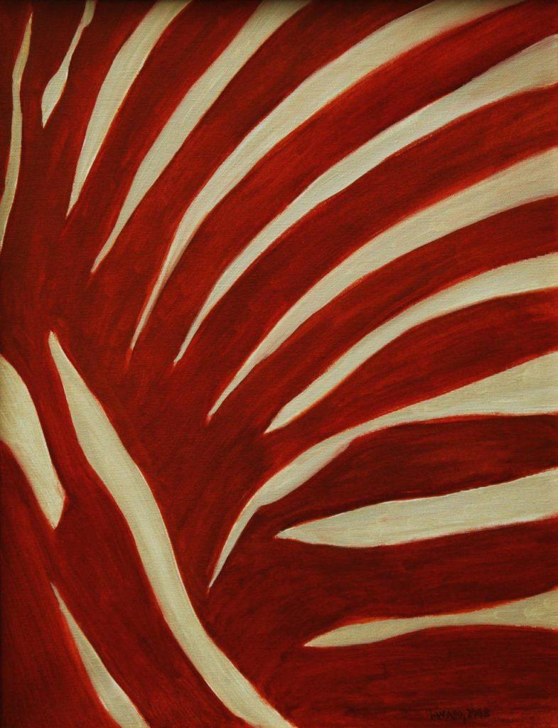 Srst č. 1 - mravenečník australský / olej na plátně / 2008 / 45 x 35 cm