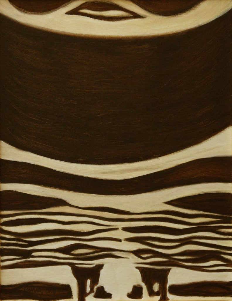 Srst č. 3 - okapi / olej na plátně / 2008 / 45 x 35 cm