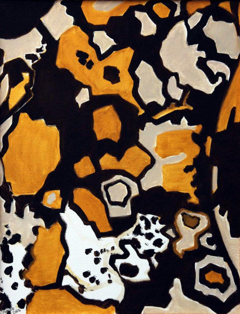 Srst č. 8 - pes hyenovitý / olej na plátně / 2008 / 45 x 35 cm