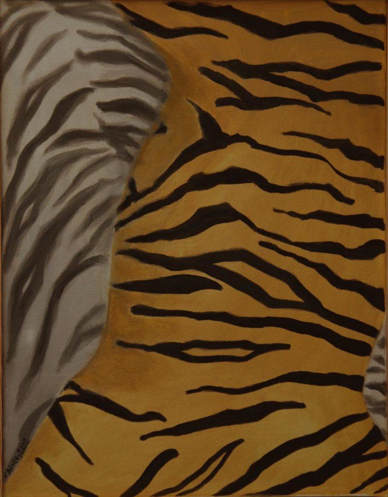 Srst č. 5 - tygr / olej na plátně / 2008 / 45 x 35 cm