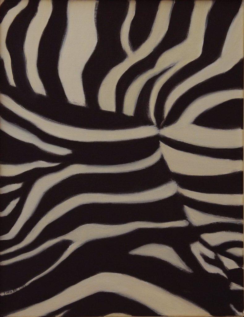 Srst č. 4 - zebra / olej na plátně / 2008 / 45 x 35 cm