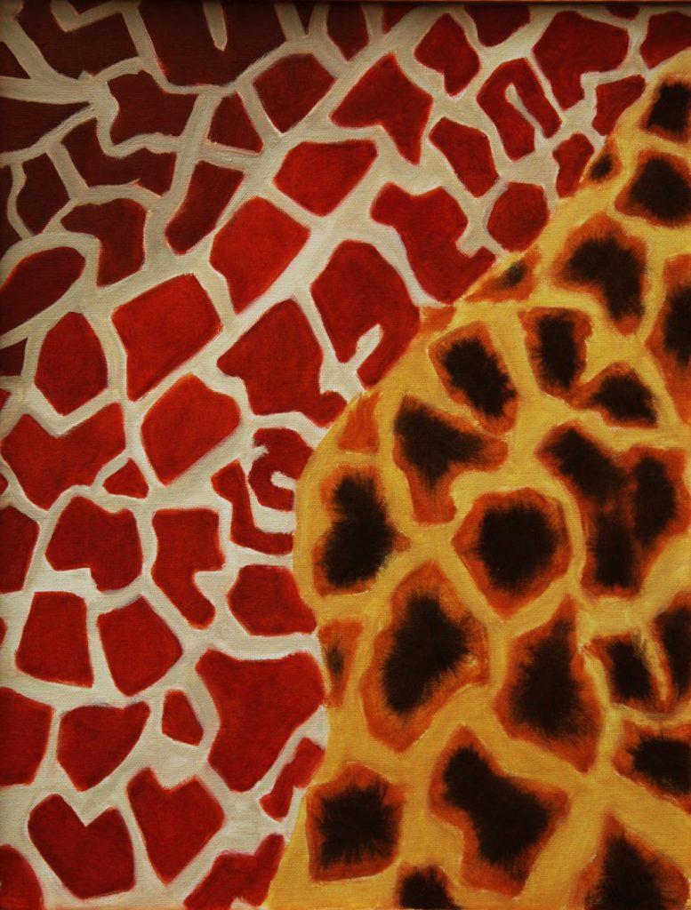 Srst č. 2 - žirafa / olej na plátně / 2008 / 45 x 35 cm