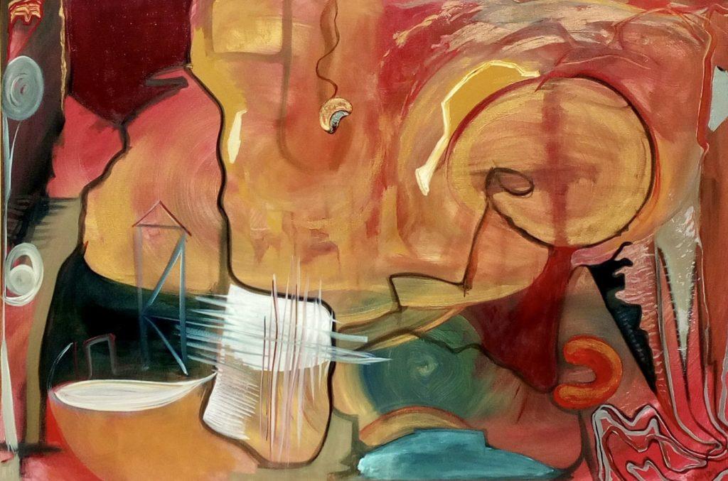 Cesta do Provence I / kombinovaná technika na plátně / 2019 / 150 x 100 cm