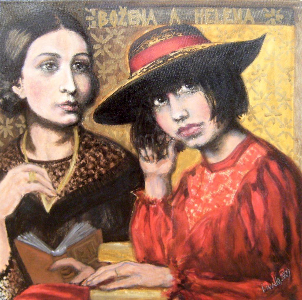 Božena Němcová / Luna - Luna / olej na plátně / 2009 / 50 x 50 cm