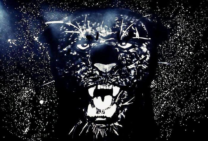 Puma / série Wild / malba štětcem na kartonu / 2020 / 115 x 75 cm